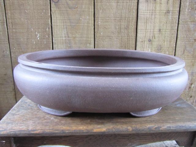 Chinese Stoneware Handmade Oval