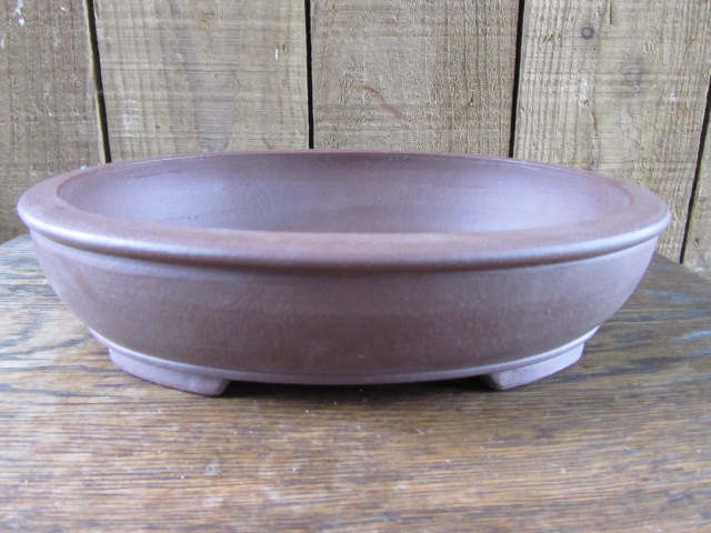 Chinese Handmade Stoneware Medium Oval