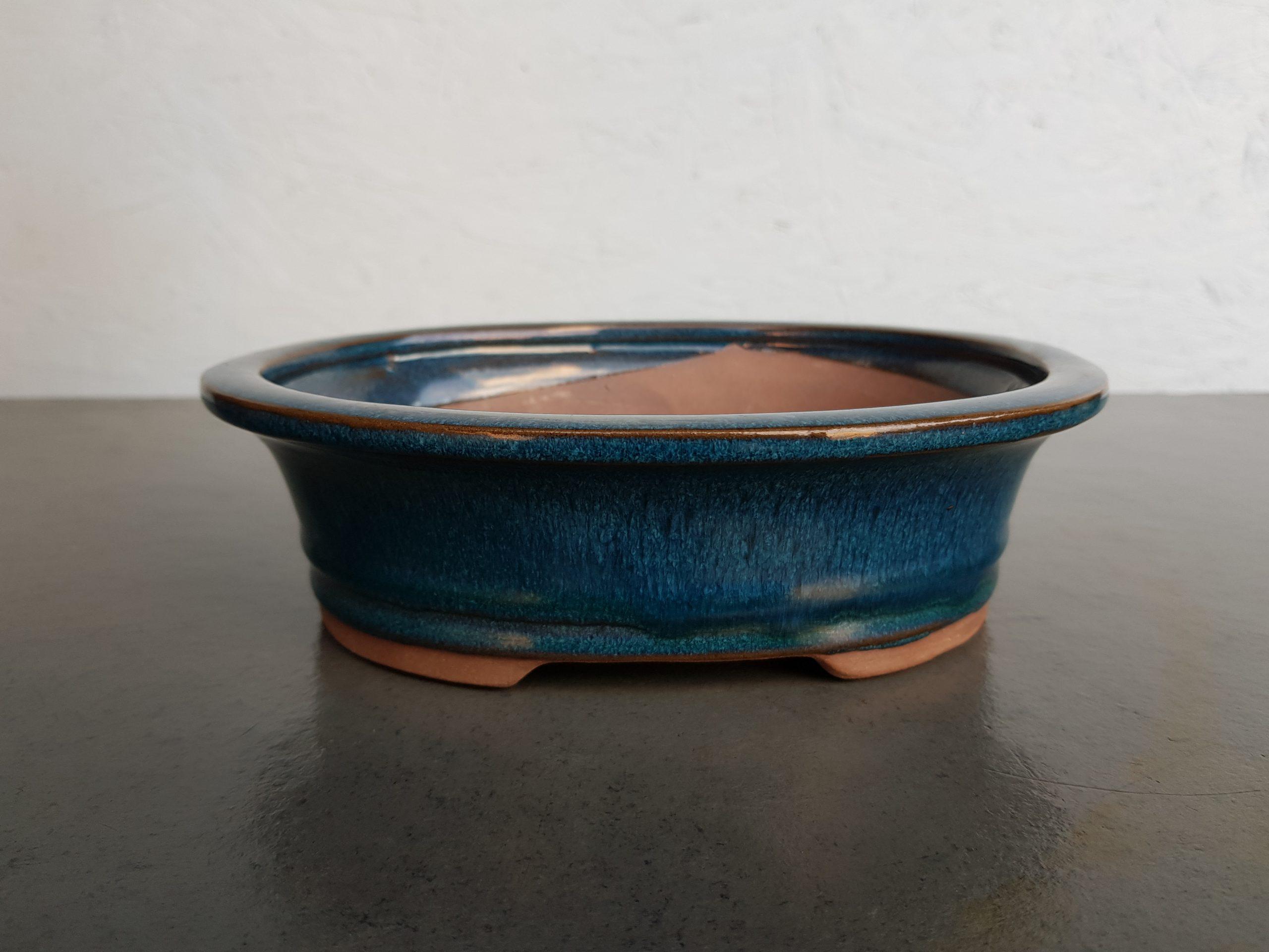 Blue Glazed Oval