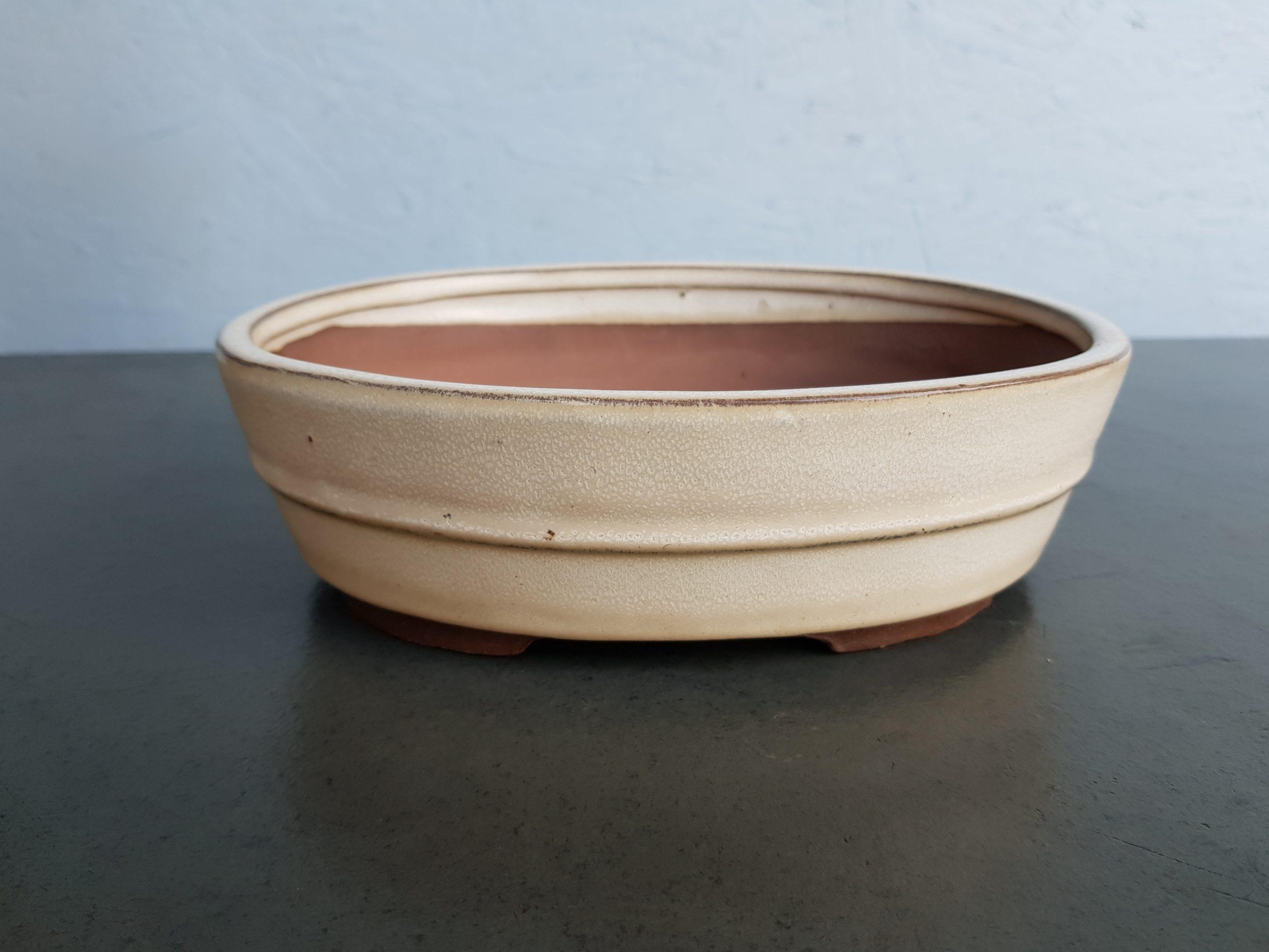 Cream Glazed Oval