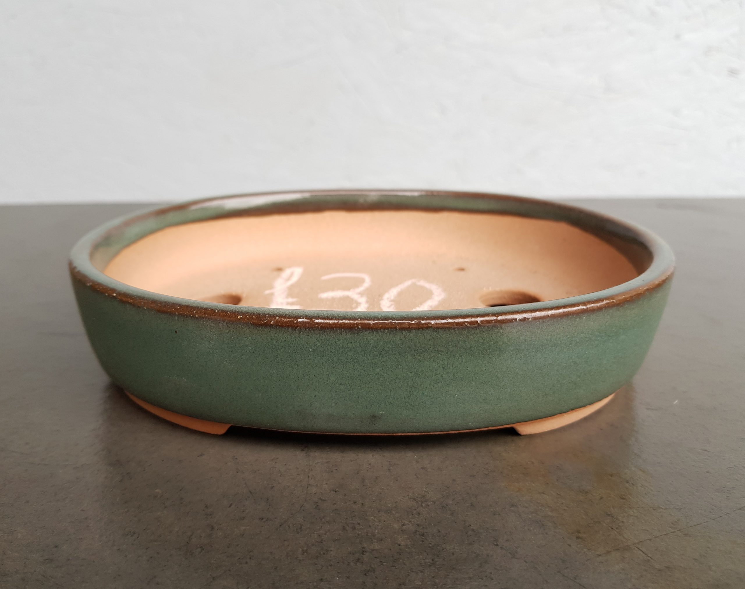 Chinese Teal/Green Glazed Oval