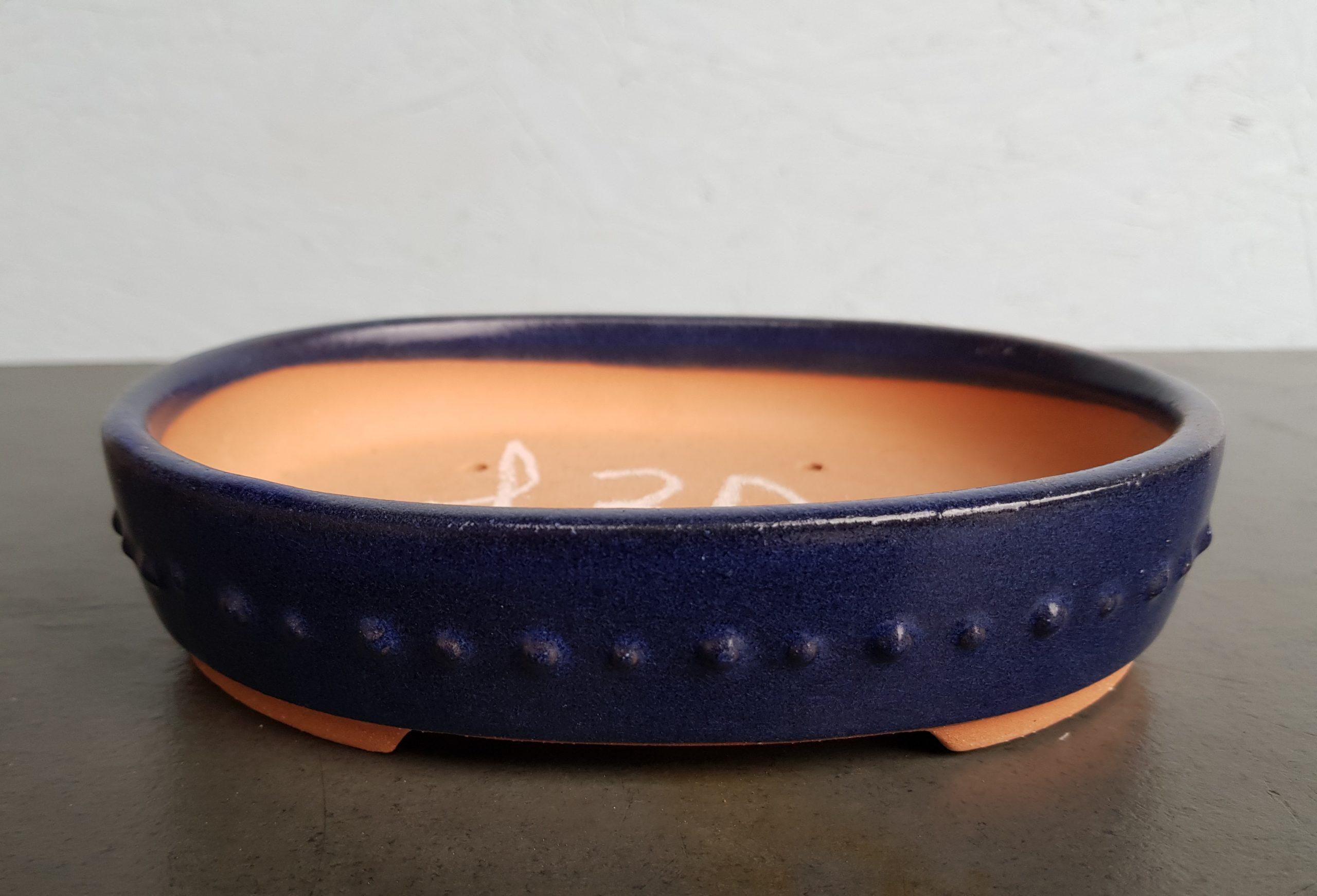 Chinese Blue Glazed Oval