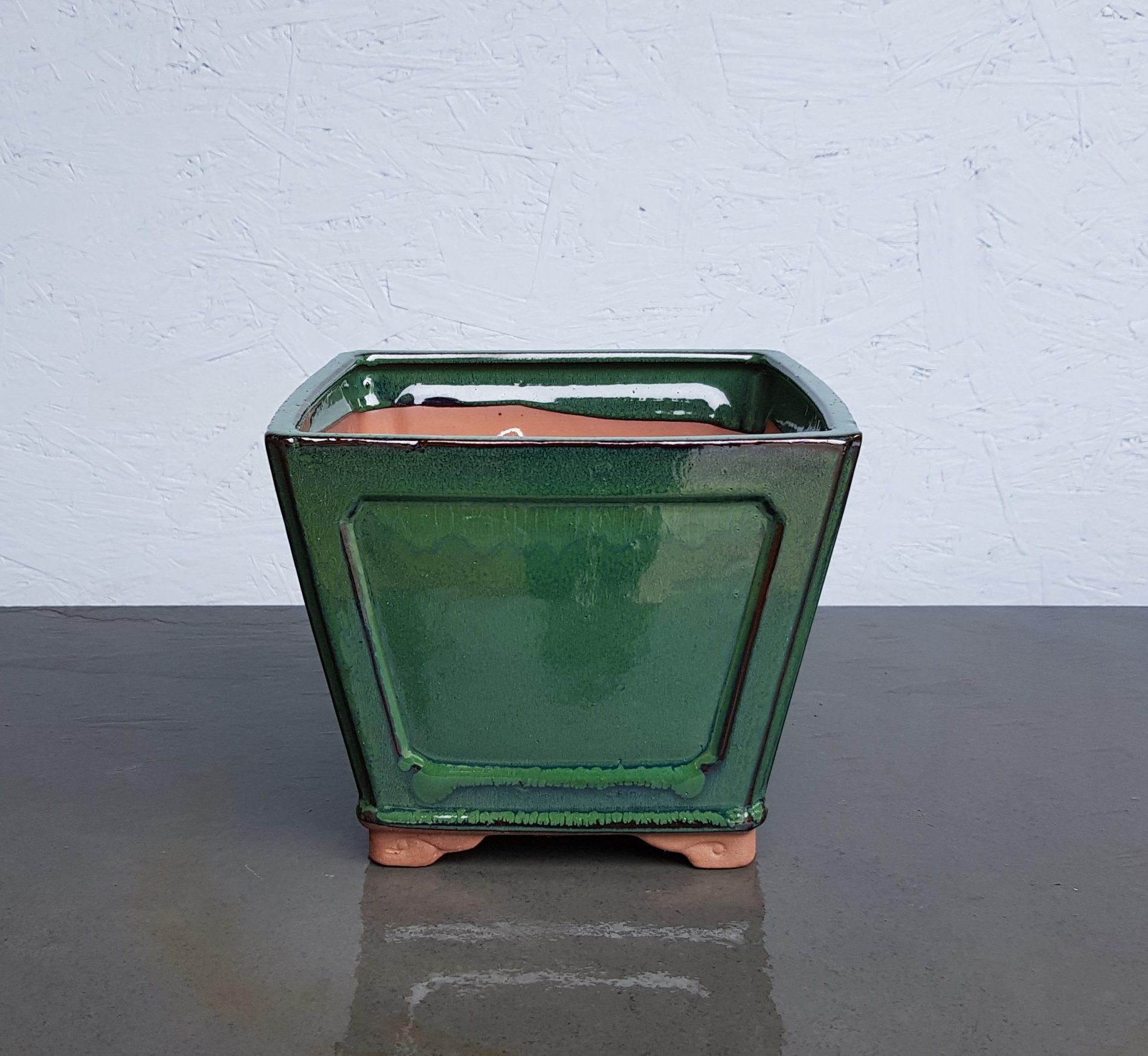 Green Glazed Semi-Cascade