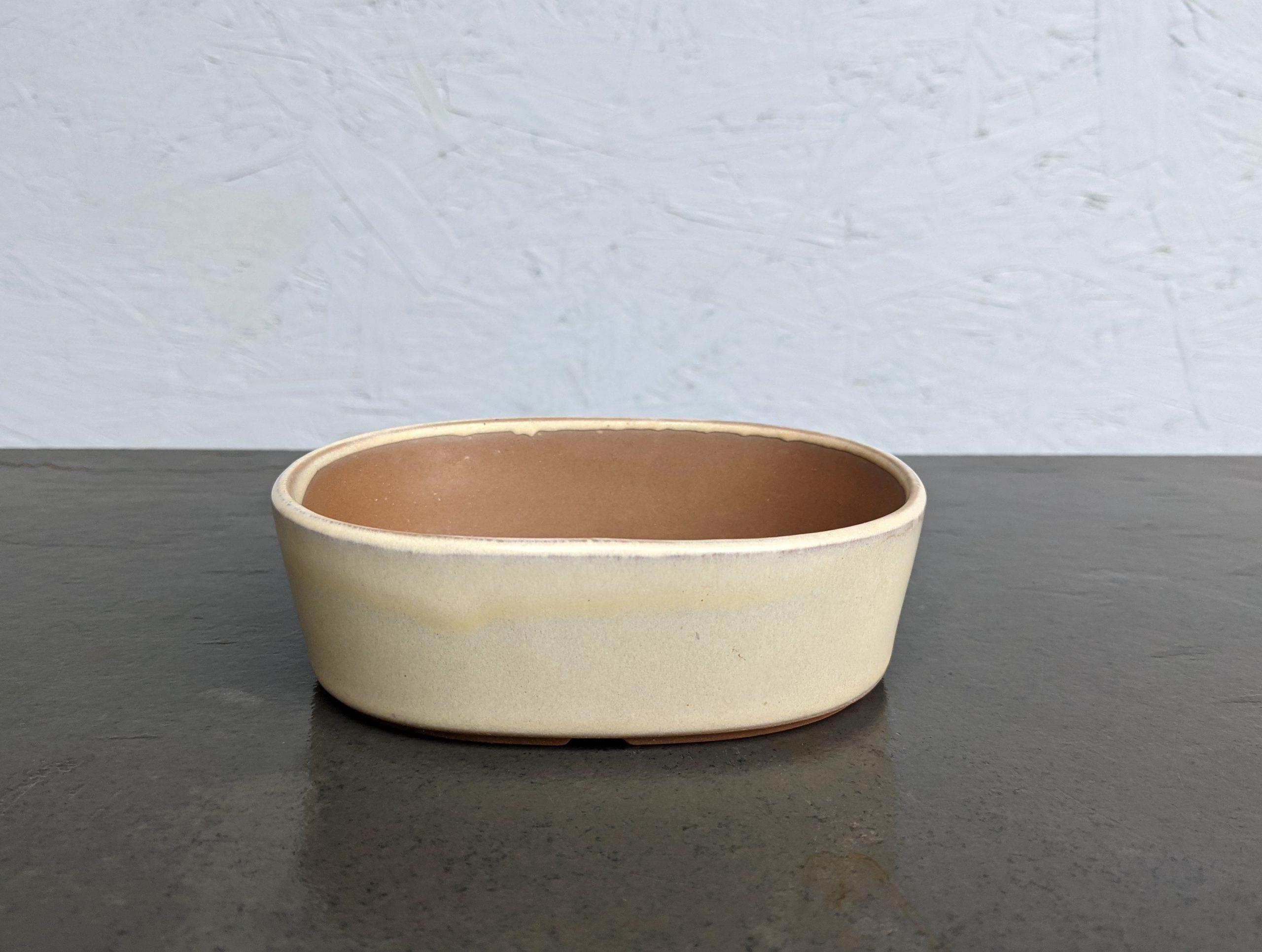 Japanese Slip moulded Cream Oval