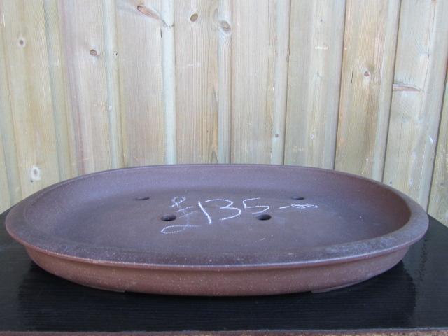 Chinese Handmade Stoneware Flat Oval