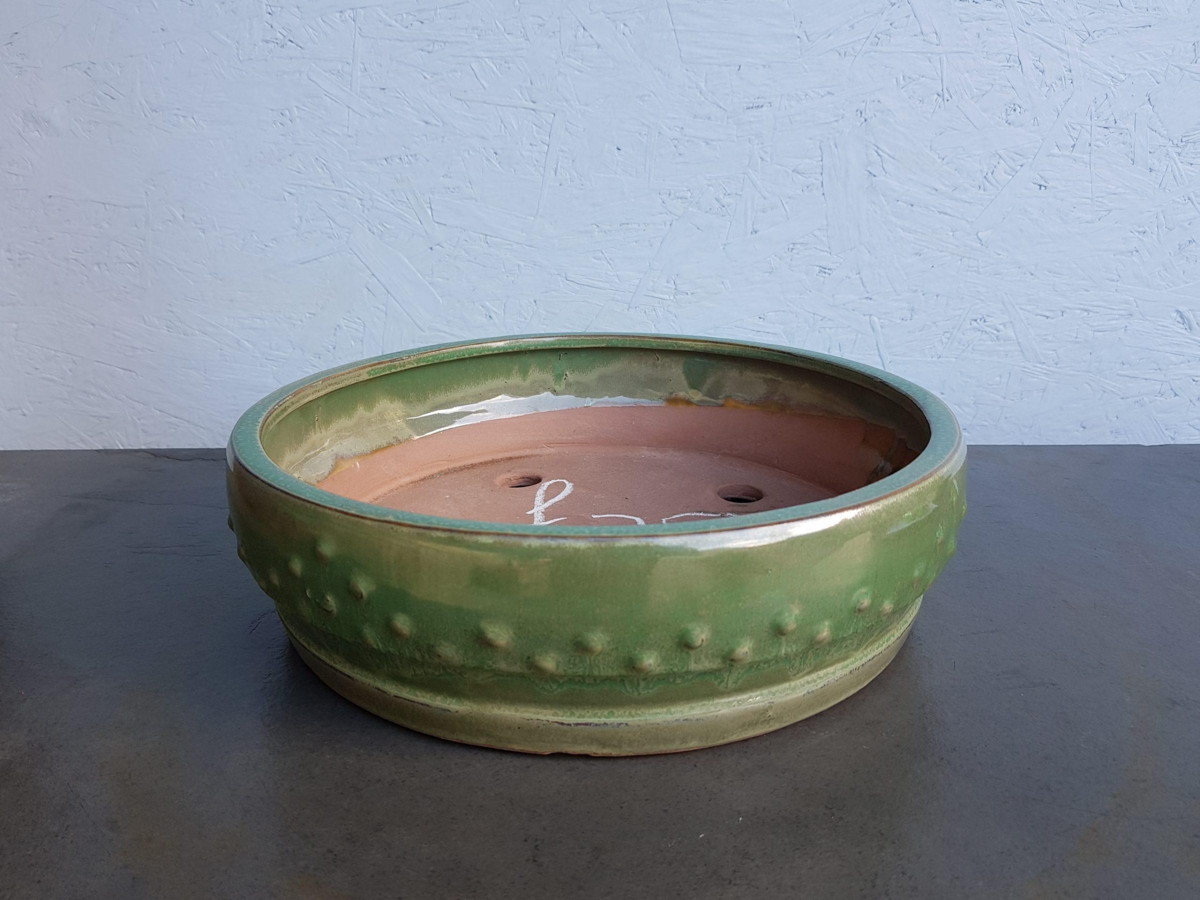 Round Green Glazed