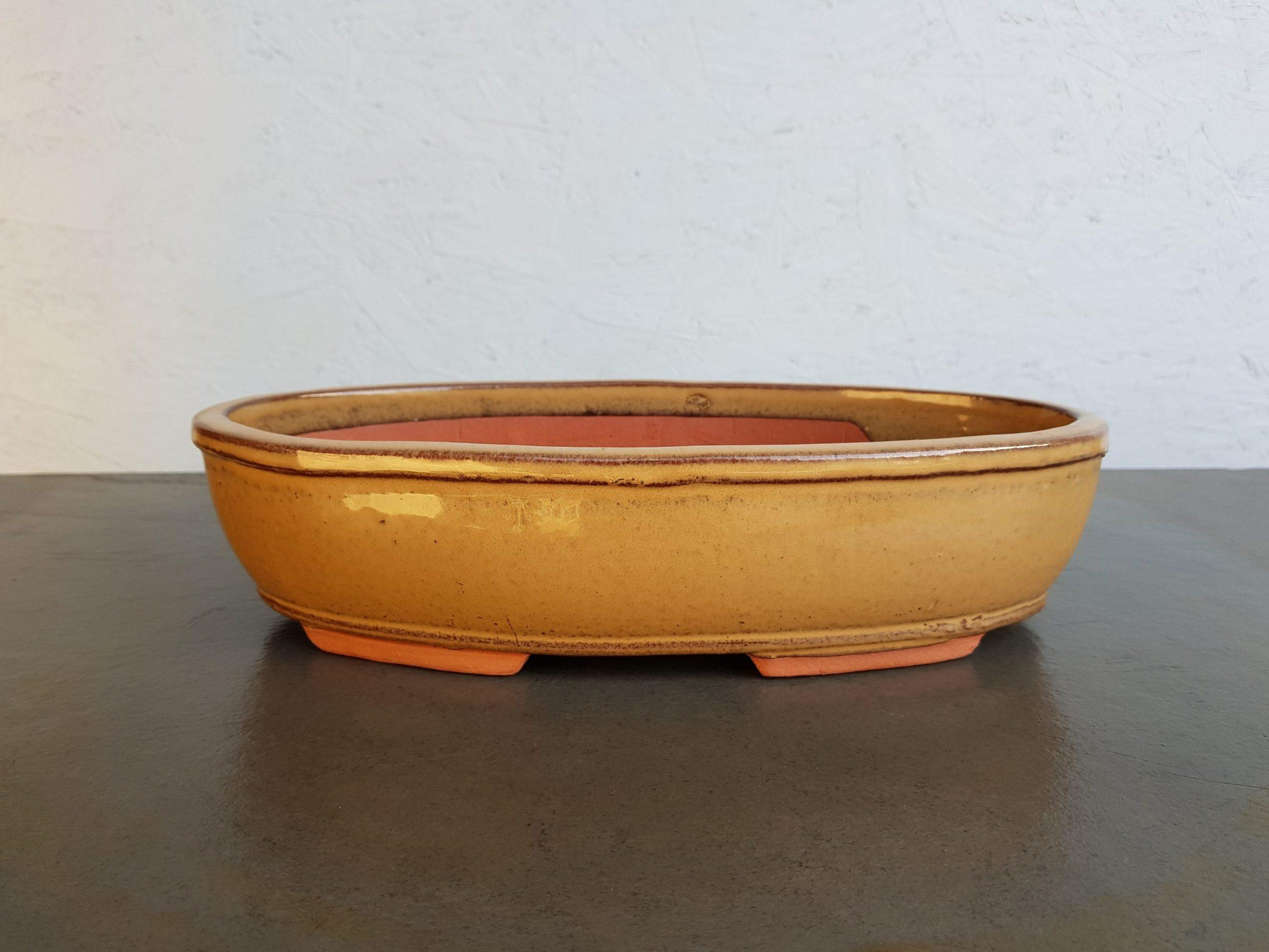 Beige Glazed Oval
