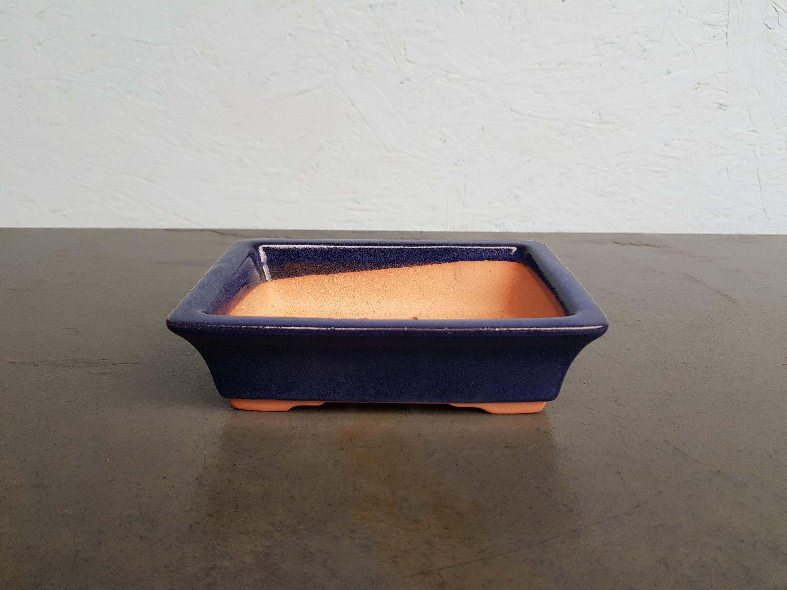 Chinese Blue Glazed Rectangle