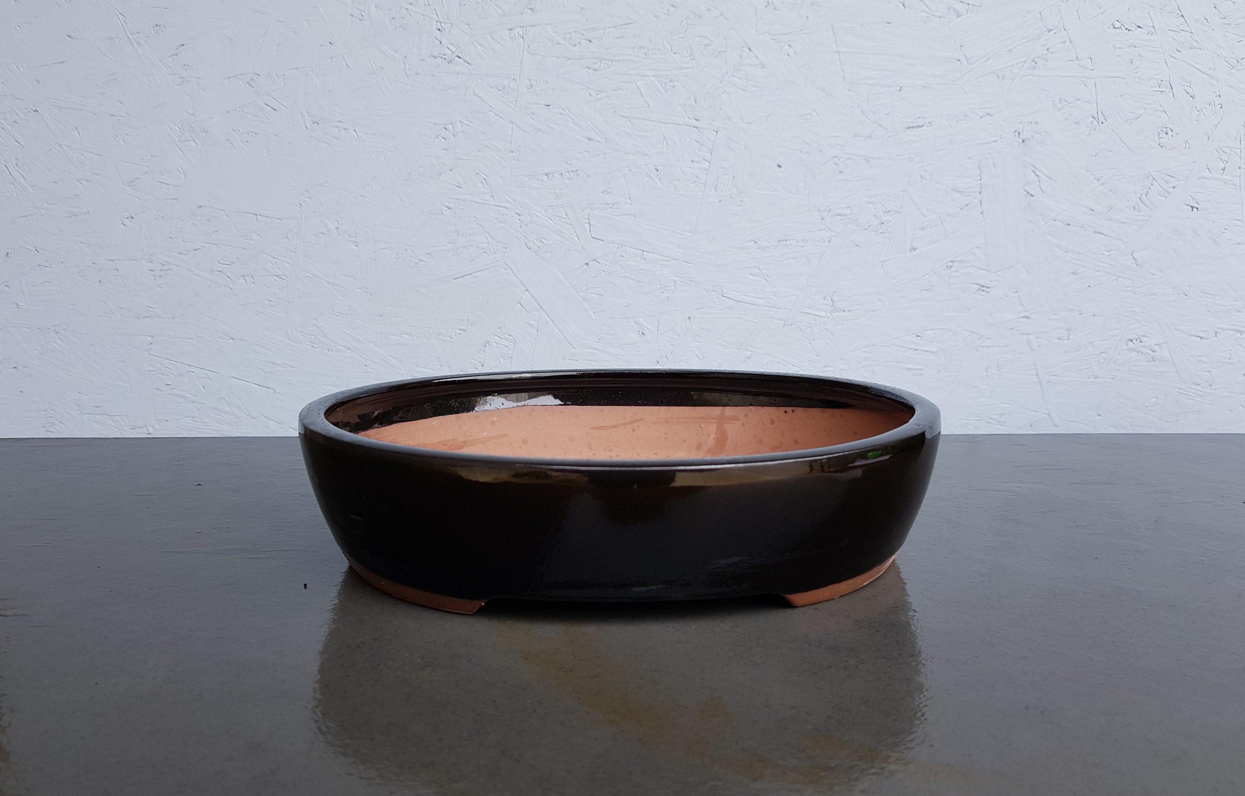 Black Glazed Oval