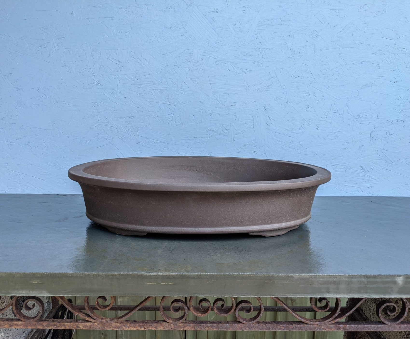 Chinese Handmade Unglazed Oval