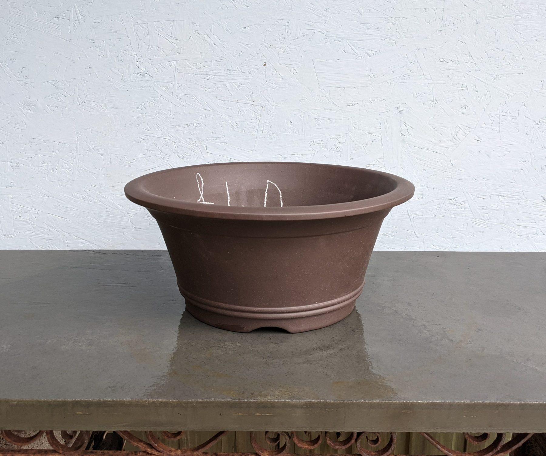 Chinese Handmade Unglazed Round